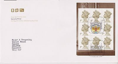 Gb Royal Mail Fdc 2000 Special By Design Prestige Pane 8 Gold Machins Bureau
