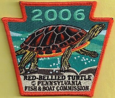 Pa Pennsylvania Fish Commission 2006 Red Bellied Turtle Non-Game Species Patch