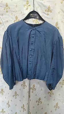 Blue 19Th Century Style Womans Victorian Bodice- Re-Enactment - Ex Theatre
