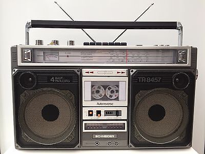 RARE BOOMBOX SCHNEIDER TR-8457 AUTO-REVERSE  REVISE  COMME NEUF courroies neuves