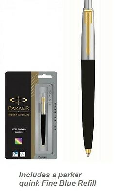 Parker Jotter Standard GT Ball Pen (Black) Brand new Now with Gold Trim