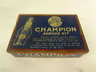 Vintage Champion Spark Plug Service Kit Advertising Tin Automobilia   G-717