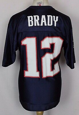 Brady #12 New England Patriots Nfl American Football Jersey Mens Medium Rare