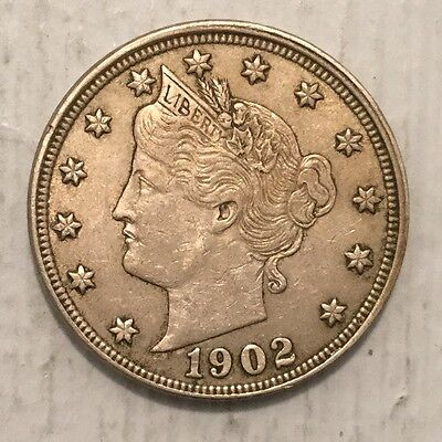 1902 5C Liberty Nickel XF-AU