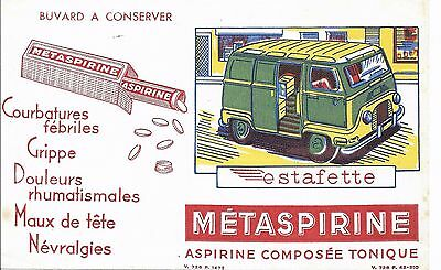 BUVARD METASPIRINE + Automobile ESTAFETTE
