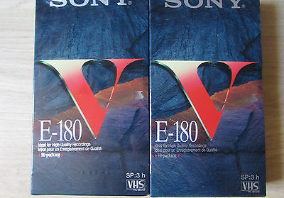 2 Cassettes Vhs Sony 180 Mns