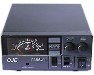 QJE PS30SWIII Switching Power Supply PSU Ham CB Radio Maas sps 30