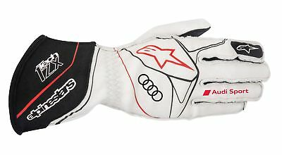 Audi Sport Rennhandschuhe Alpinestars Racinggloves Tech1-ZX white-black-red