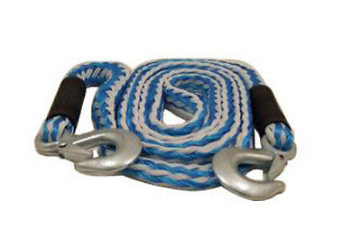 Elasticated Tow Rope 4M 2000Kg MAX LOAD Breakdown Recovery Cars Van 4x4 Nylon