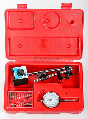 Dial Indicator Set with On/Off Magnetic Base New