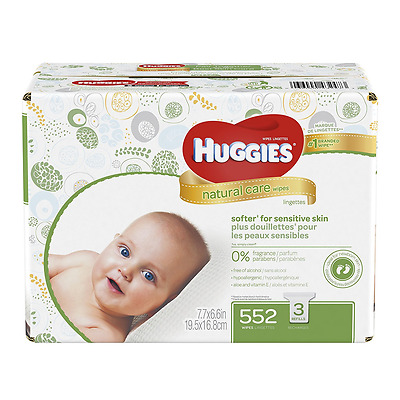 Huggies Natural Care Baby Wipes, Refill, Unscented, Hypoallergenic, Aloe And E,