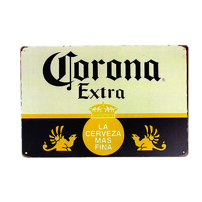 Corona Extra Beer Sign Metal Tin Logo Vintage wall decor poster Cerveza