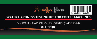 Water Total Hardness Test kit for Coffee machines & drinking water (5 Strips)