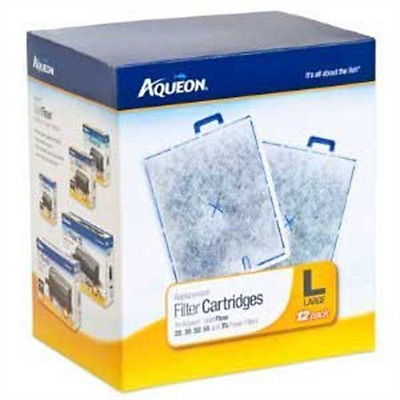 Aqueon 06419 Filter Cartridge, Large, 12-Pack, New, Free Shipping.