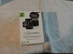 Techlink - Recharge Portable Charger Apple Watch 38mm 42mm Black- 527090