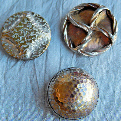 Lot of  Vintage  Buttons White Metal Silver Tone  #533-B