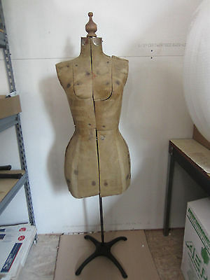 Vintage Dressmakers Form for Decor Use Only- Great Steampunk Look