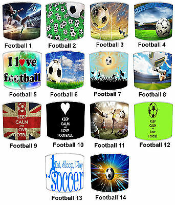 Lampshades Ideal To Match Football Duvets Covers, Football Wall Decals & Stckers