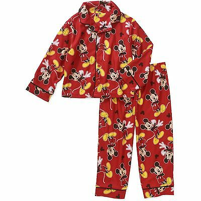 Toddler Boys Mickey Mouse 2pc Flannel Pajamas Set New with Tags Size 5T Disney