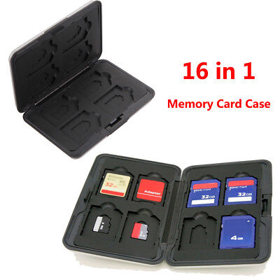 16 in 1 SDHC SDXC Micro SD Memory Card Storage Case Holder Wallet US Warehouse