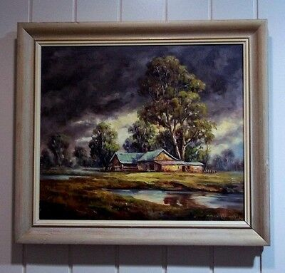 Oil Painting , ' Stormy Skies ' , by Listed Artist , Charles Frydrych