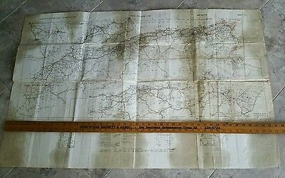 Vintage 1942 Wwii General Staff No.4256 War Office Map - Africa Road Map
