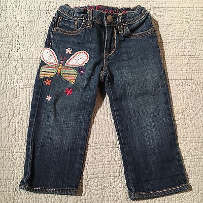 Baby Gap Butterfly Denim Jeans Size 3T
