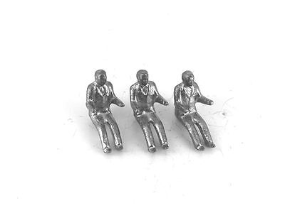 Dinky 3 x Touring Driver 101, 102 MG, 103 Healey, 104, etc Unpainted White Metal