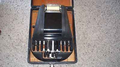vintage THE STENOTYPE with Case and Manuals & paper Court Reporting