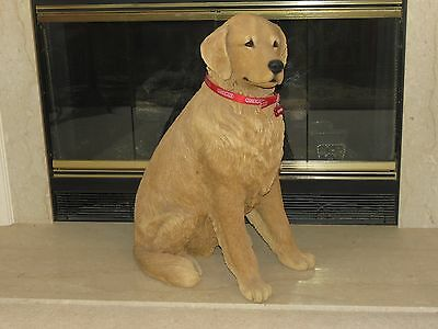 "Sandicast Life Size Golden Retriever Dog Statue Sculpture Bird Hunting 29"" Tall"