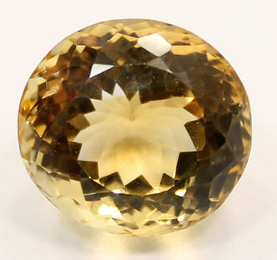 Magnificent 13.99 Carat Oval Cut Yellow Citrine