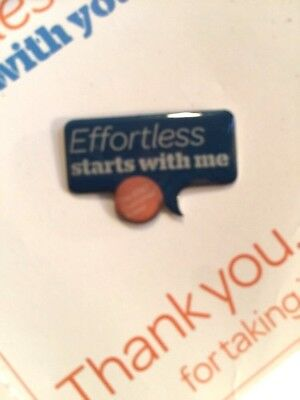 "AT&T ""Employee Badge"" Pin Customers Rule Effortless Starts With You Pacific Bell"