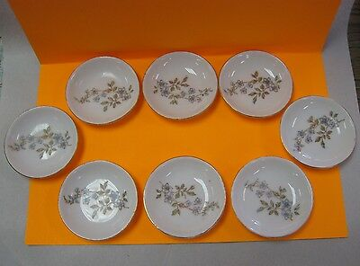 set of 8 matching butter pats with floral design, L S & S Carlsbad, Austria