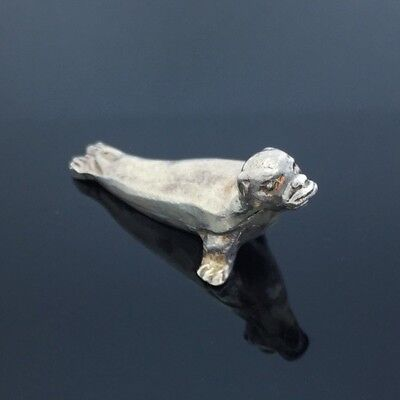 Charming Vintage Collectible Sterling Silver Seal Figure Statue