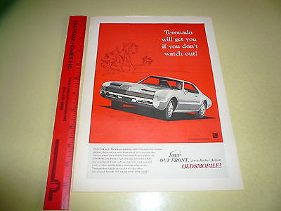 1966 Oldsmobile Toronado Ad Advertisement Vintage Step Out Front