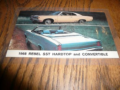 1968 Rebel SST Hardtop & Convertible Postcard