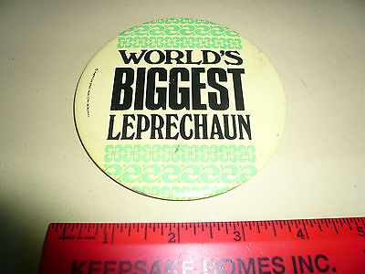 Irish ? Advertising Pin - World's Biggest Leprechaun