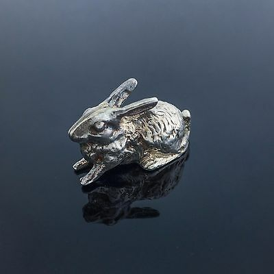 Charming Vintage Collectible Sterling Silver Rabbit Figure Statue