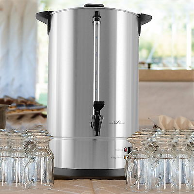 75 Cup Large Coffee Dispenser Urn Big Silver Commercial Brewer Maker Wedding N