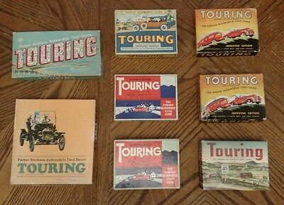 8 Touring Automobile Card Game Nice COLLECTION! Parker Brothers