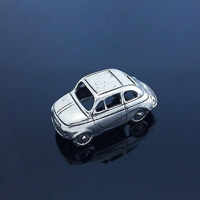 Vintage Solid Silver Iconic Fiat 500 Car