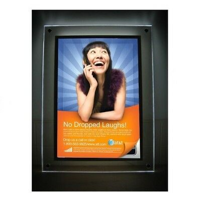 Crystal Poster LED Mounted Bright Light Box Advertisement Display Print Included