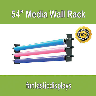 "54"" Wall Media Storage Rack Vinyl Rolls / Fabric for Sign Shops and Printing"