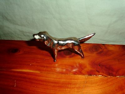 Vintage Miniature Metal Springer Spaniel Hunting Dog Figurine Marked Japan