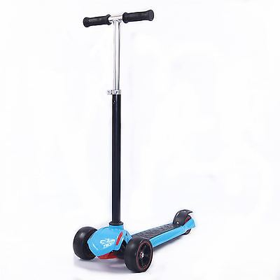 3 Wheel scooter for Adult and Kids children kick push stunt scooter in Blue