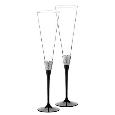 NEW Wedgwood With Love Flute Pair Noir