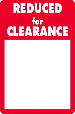 NEW #2510 - Reduced for Clearance Work Labels / Stickers