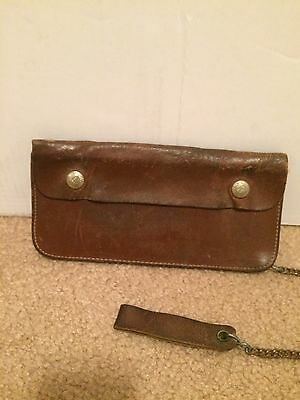 Vintage Bucheimer Leather Wallet with Chain