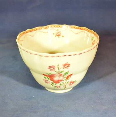 ANTIQUE CHINESE EXPORT PORCELAIN FAMILLE ROSE HANDLED TEA CUP BOWL Perfect
