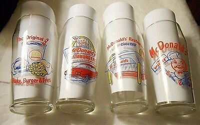 LOT OF 4  1995 COLLECTIBLE McDONALDS GLASSES COMPLETE SET OF 4